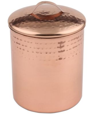 Hammered Copper Small Canister