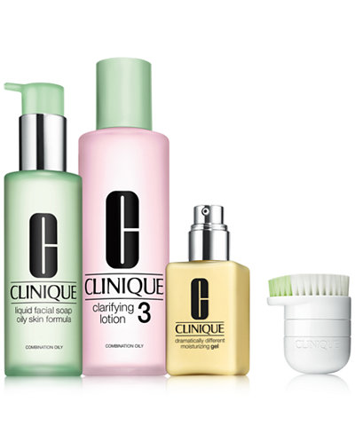 Clinique 4-Pc. 3-Step For Oilier Skin Set