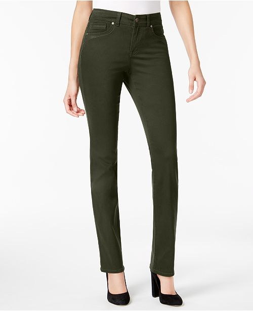 Style & Co Petite Straight-Leg Jeans, Created for Macy's