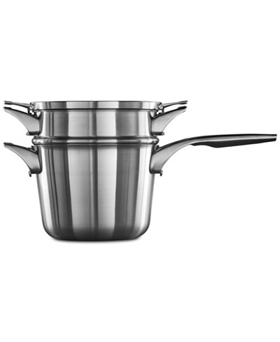 Calphalon Premier Space-Saving Stainless Steel 4.5-Qt. Double-Boiler Saucepan