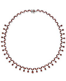 Rhodolite Garnet Statement Necklace (40 ct. t.w.) in Sterling Silver