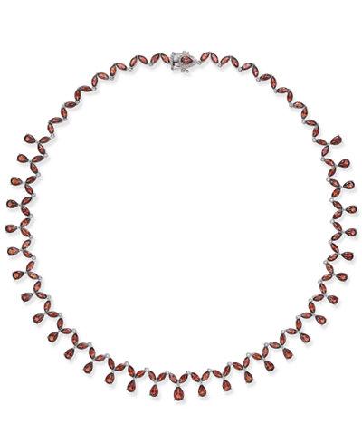 Rhodolite Garnet Statement Necklace (40 ct. t.w.) in Sterling Silver