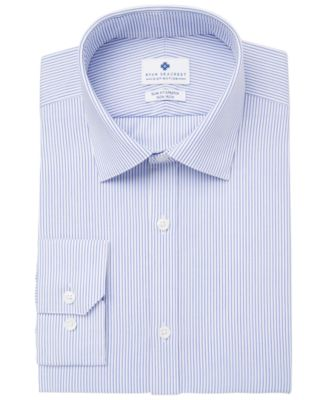 Men's Ultimate Slim-Fit Non-Iron Performance Stripe Dress Shirt, Created for Macy's