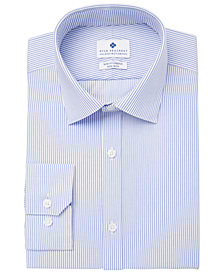 Ryan Seacrest Distinction™ Men's Ultimate Slim-Fit Non-Iron Performance Stripe Dress Shirt, Created for Macy's