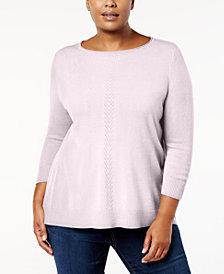 Karen Scott Plus Size Luxsoft Sweater, Created for Macy's