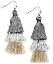 I.N.C. Ombré Tassel Drop Earrings, Created for Macy's