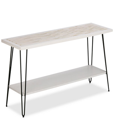 Woodbrick Console Table, Quick Ship