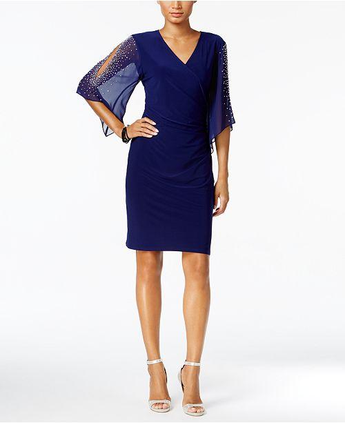 597a0315 MSK Embellished Cold-Shoulder Dress & Reviews - Dresses - Women - Macy's