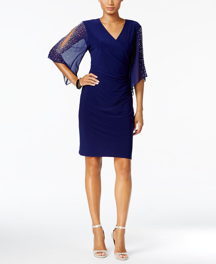MSK - Embellished Cold-Shoulder Dress