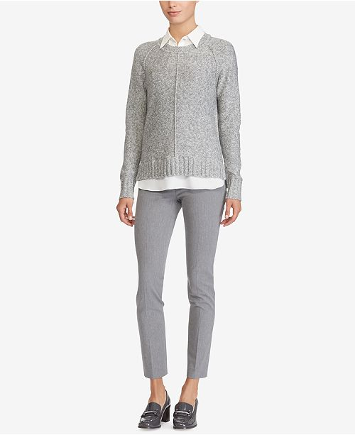 Lauren Ralph Lauren Petite Layered-Look Sweater