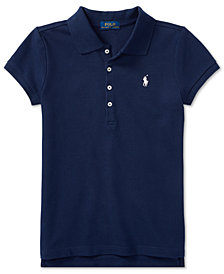 Polo Ralph Lauren Big Girls Stretch Mesh Polo Shirt