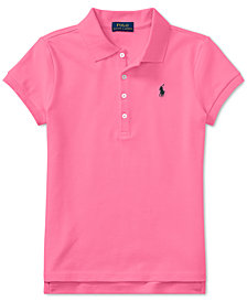 Ralph Lauren Big Girls Stretch Mesh Polo Shirt