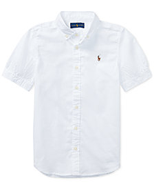 Ralph Lauren Big Girls Solid Oxford Top