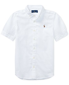 Polo Ralph Lauren Big Girls Solid Oxford Top