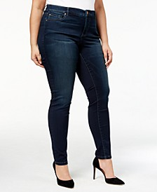 INC Plus and Petite Plus Size Tummy Control Beyond Stretch Skinny Jeans, Created for Macy's