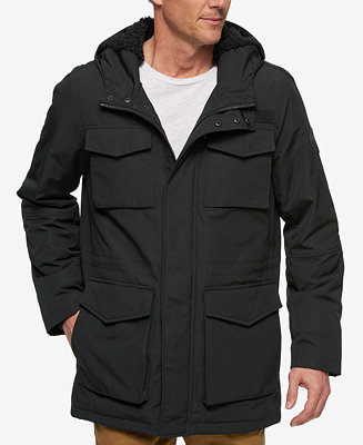 Levi S Men S Arctic Hooded Fleece Lined Parka Coats