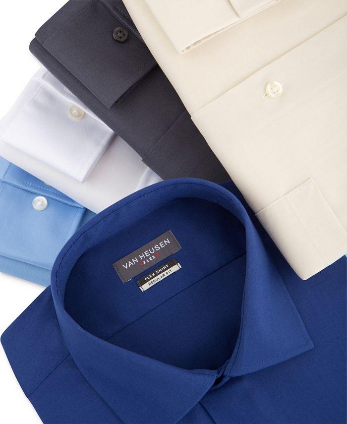 Van Heusen - Men's Classic/Regular Fit Stretch Solid Dress Shirt