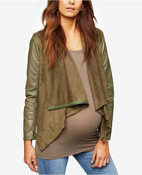 A Pea in the Pod Maternity Draped Jacket