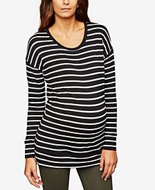 Maternity Striped Sweatshirt