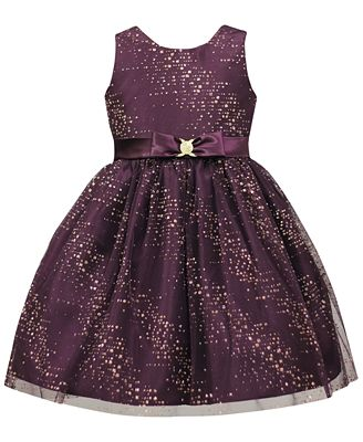 Jayne Copeland Splash Glitter Special Occasion Dress, Toddler ...