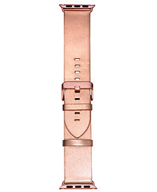 VogueStrap Smart Buddie Platinum Pink Metallic Leather Strap for 38mm Apple Watch®