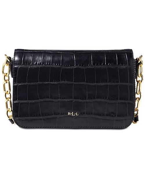d3f72d7b05 Lauren Ralph Lauren Croc-Embossed Carmen Small Crossbody   Reviews ...