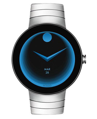 Movado Men's Connect Stainless Steel Bracelet Smart Watch 46.5mm