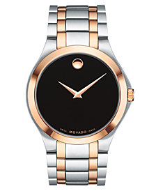 Movado Men's Swiss Superbuy Two-Tone Stainless Steel Bracelet Watch 40mm, Created for Macy's