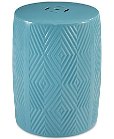 Reik Ceramic Garden Stool, Quick Ship