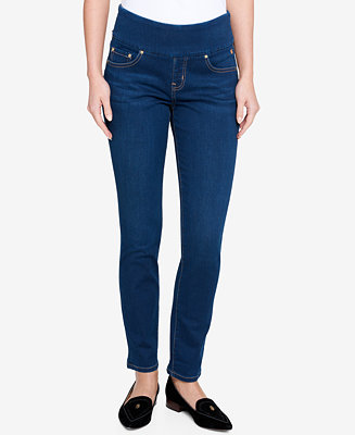 Tommy Hilfiger Pull-On Straight-Leg Jeans, Created for ...