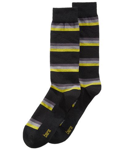 Bar III Men's Layered Striped Socks, Created for Macy's