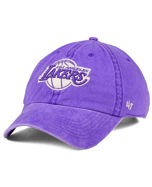 3038240fc3d ...  47 Brand Los Angeles Lakers Summerland CLEAN UP Cap    ...