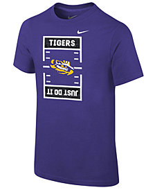 Nike LSU Tigers Just Do It Football T-Shirt, Big Boys (8-20)