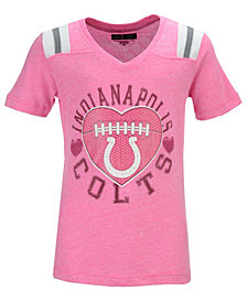 5th & Ocean Indianapolis Colts Pink Heart Football T-Shirt, Big Girls (4-16)