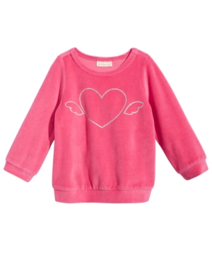 First Impressions HeartPrint Velour TShirt Baby Girls (024 months) Created for Macys