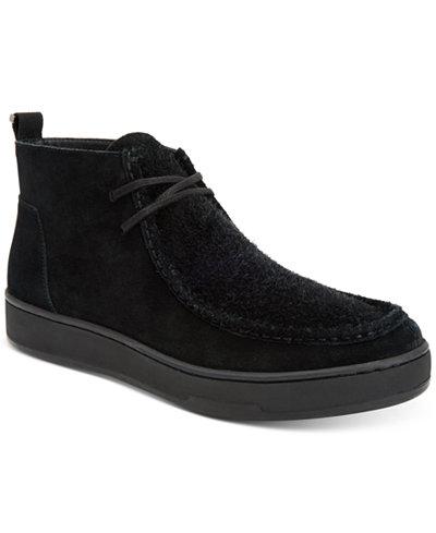 Calvin Klein Men's Nero Calf Suede Boots