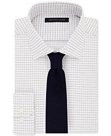 Tommy Hilfiger Men's Performance Check Dress Shirt & Mesh Tie