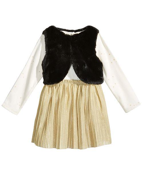42844765c First Impressions 2-Pc. Faux-Fur Vest   Dress Set