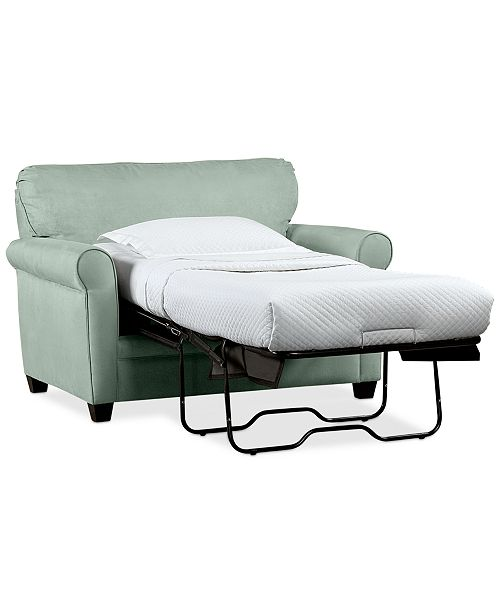Furniture Kaleigh 55 Fabric Single Sleeper Chair Bed Storage