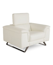 """Trivoly 47"""" Leather Chair with Articulating Headrest, Created for Macy's"""