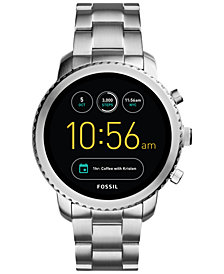 Fossil Q Men's Explorist Gen 3 Stainless Steel Bracelet Touchscreen Smart Watch 46mm