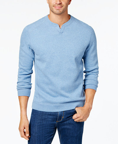 Tommy Bahama Men's Flip Side Classic Pima Cotton Sweater ...