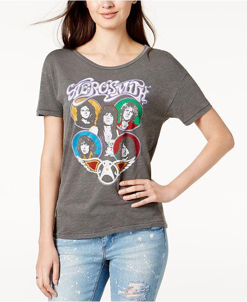 8422a6632 Junk Food Cotton Aerosmith Graphic T-Shirt & Reviews - Tops - Women ...