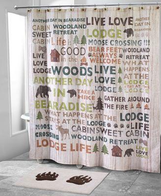 Cabin Words Shower Curtain