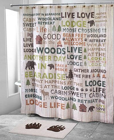 Avanti Cabin Words Shower Curtain