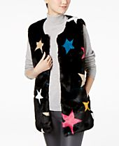 I.N.C. Star Faux-Fur Vest, Created for Macy's