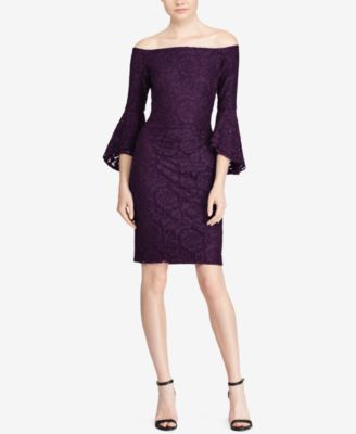 1 shoulder lace dress