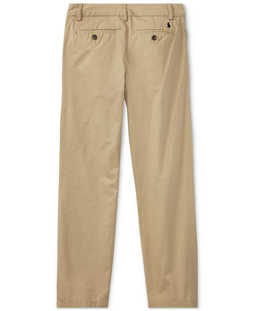 29962677f5f6 Polo Ralph Lauren Big Boys Slim Fit Cotton Chino Pants   Reviews ...
