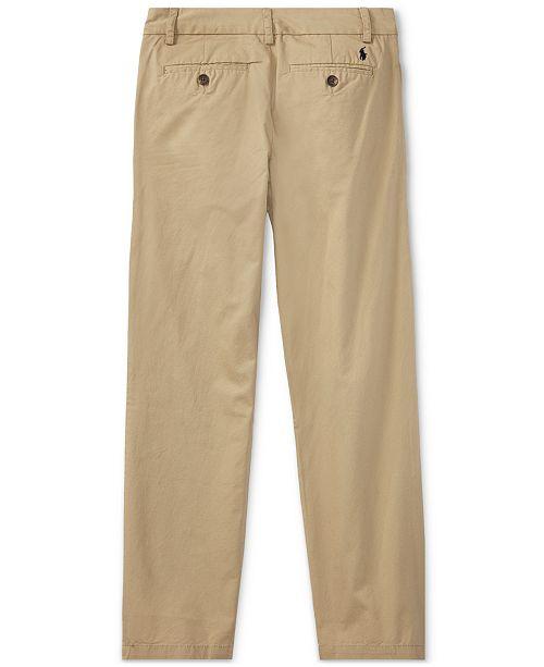 e529f78240aa Polo Ralph Lauren Big Boys Slim Fit Cotton Chino Pants   Reviews ...