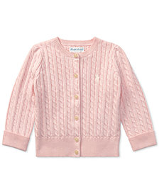 Ralph Lauren Mini Cable Cardigan, Baby Girls
